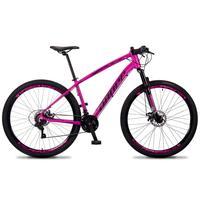 Bicicleta Aro 29 Dropp Tx 21v Shimano, Suspensão E Freio Disco - Rosa/preto - 19´´ - 19´´