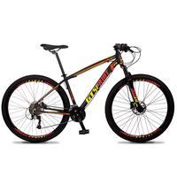 Bicicleta Aro 29 Gt Sprint Volcon 21v Shimano, Freio A Disco - Preto/vermelho E Amarelo - 15''