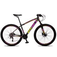 Bicicleta Aro 29 Gt Sprint Volcon 27v Susp E Freio Hidraulic - Preto/amarelo E Rosa - 15´´ - 15´´