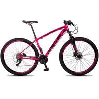 Bicicleta Aro 29 Spaceline Vega 27v Suspensão E Freio Hidral - Rosa/preto - 17´´ - 17´´