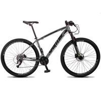 Bicicleta Aro 29 Spaceline Vega 27v Suspensão E Freio Hidral - Cinza/preto - 17''