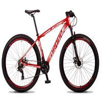 Bicicleta Aro 29 Dropp Rs1 Pro 21v Tourney Freio Disco/trava - Vermelho/branco - 15