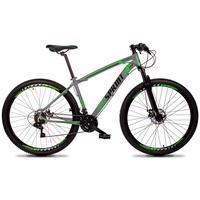 Bicicleta Aro 29 Gt Sprint Volcon 27v Susp E Freio Hidraulic - Cinza/verde E Preto - 21´´ - 21´´