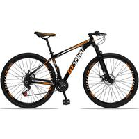 Bicicleta Aro 29 Gt Sprint Mx1 21v Suspensão E Freio A Disco - Preto/laranja E Branco - 15''