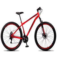 Bicicleta Aro 29 Dropp Sport 21v Suspensão E Freio A Disco - Vermelho/preto - 19´´ - 19´´