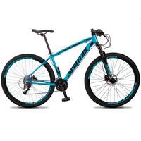 Bicicleta Aro 29 Spaceline Vega 27v Suspensão E Freio Hidral - Azul/preto - 21´´ - 21´´