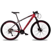 Bicicleta Aro 29 Dropp Z7x 27v Susp C/trava Freio Hidraulico - Cinza/vermelho E Preto - 19''