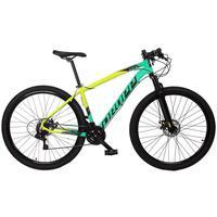 Bicicleta Aro 29 Dropp Z7x 21v Shimano, Suspen E Freio Disco - Amarelo/verde E Preto - 15''