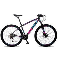 Bicicleta Aro 29 Gt Sprint Volcon 21v Shimano, Freio A Disco - Preto/azul E Rosa - 15''