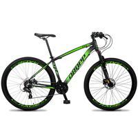 Bicicleta Aro 29 Dropp Z4x 24v Susp C/trava Freio Hidraulico - Preto/verde - 21´´ - 21´´