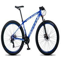 Bicicleta Aro 29 Dropp Rs1 Pro 21v Tourney Freio Disco/trava - Azul/branco - 21