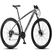 Bicicleta Aro 29 Dropp Rs1 Pro 24v Acera Freio Hidra E Trava - Cinza/preto - 15''