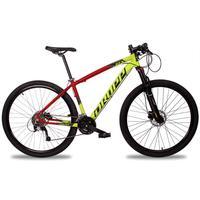 Bicicleta Aro 29 Dropp Z7x 27v Susp C/trava Freio Hidraulico - Vermelho/amarelo E Preto - 17''