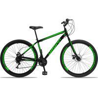 Bicicleta Aro 29 Dropp Sport 21v Garfo Rigido, Freio A Disco - Preto/verde - 17´´ - 17´´