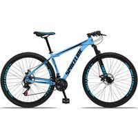Bicicleta Aro 29 Spaceline Orion 21v Suspensão Freio A Disco - Azul/preto - 21''