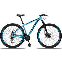 Bicicleta Aro 29 Dropp Aluminum 21v Suspensão, Freio A Disco - Azul/preto - 15