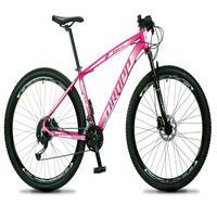 Bicicleta Aro 29 Dropp Rs1 Pro 27v Alivio, Fr. Hidra E Trava - Rosa/branco - 21´´ - 21´´
