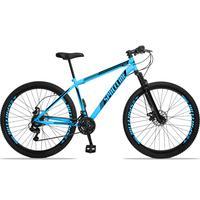Bicicleta Aro 29 Spaceline Moon 21v Suspensão E Freio Disco - Azul/preto - 17´´ - 17´´