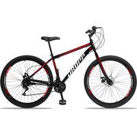 Bicicleta Aro 29 Dropp Sport 21v Garfo Rigido, Freio A Disco - Preto/vermelho E Branco - 19´´ - 19´´