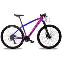 Bicicleta Aro 29 Dropp Z7x 27v Susp C/trava Freio Hidraulico - Azul/rosa E Preto - 17
