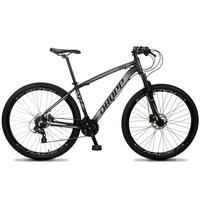 Bicicleta Aro 29 Dropp Z4x 24v Susp C/trava Freio Hidraulico - Preto/cinza - 15