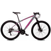 Bicicleta Aro 29 Dropp Z1x 21v Shimano, Susp E Freio A Disco - Cinza/rosa - 17´´ - 17´´
