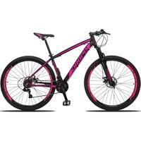 Bicicleta Aro 29 Dropp Z3 21v Shimano, Suspensão Freio Disco - Preto/rosa - 17