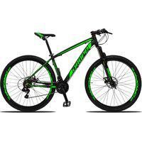 Bicicleta Aro 29 Dropp Z3 21v Shimano, Suspensão Freio Disco - Preto/verde - 19''