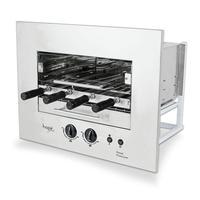 Assador A Gás Glp Rotativo De Embutir Hope Roast Premium 04 Espetos Bivolt 5001