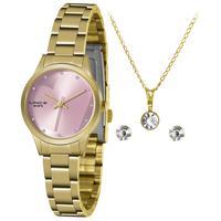 Relógio Lince Feminino Lrgh143l Ky32r1kx Dourado + Semijóia