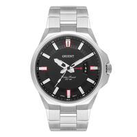 Relógio Orient Masculino Prata Mbss1400 P1sx Mostrador Preto