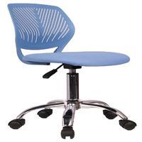 Cadeira Secretaria Kids Pelegrin Pel-3300 Tela Mesh Azul