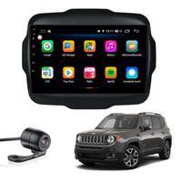 "Multimídia Jeep Renegade Limited 2015 2016 2017 2018 2019 Aikon Atom Basic Two Tela 9"" Quad Core 2gb Android Gps Câmera De Ré E Frontal Tv Digital"