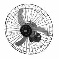 Ventilador De Parede Oscilante 60 Cm 220v Preto