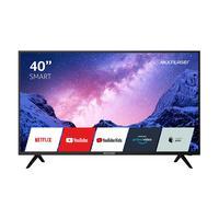 """Tv Smart 40"""" Multilaser Fhd C/ Conversor Digital, Hdr, Wifi, Hdmi E Usb Preta - Tl030"""
