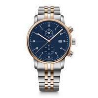 Relógio Masculino Wenger Urban Classic Chrono Prata E Dourado