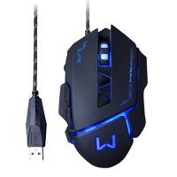 Mouse Gamer Warrior Multilaser 3200dpi, Preto, Usb, Mo261