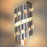 Arandela Nice Redonda Em Alumínio/cristal 110v 3000k+led 3w