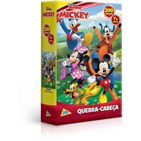 Quebra Cabeça Cartonado Mickey 200 Peças Unidade