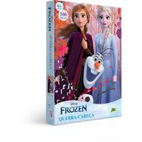 Quebra Cabeça 100 Peças Encapado - Frozen