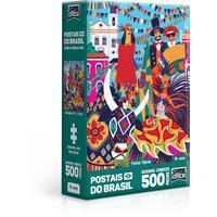 Quebra Cabeça 500 Peças Nano Postais Do Brasil - Festas Tipicas