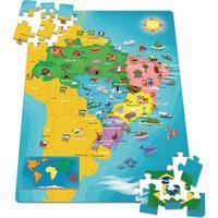 Quebra Cabeça Cartonado Mapa Do Brasil 100 Peças