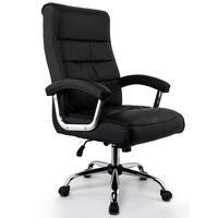 Cadeira Escritório Presidente Genebra, Preta, Mola Ensacada, Conforsit - 4650