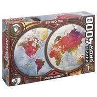 Quebra Cabeça 4000peças Mapa Mundi