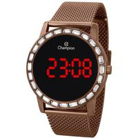 Relógio Feminino Champion Digital Ch40160r - Marrom