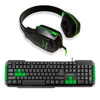Kit Gamer Duplo Multilaser Teclado De Membrana Tc201 Com Headset Ph146