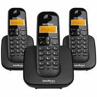 Telefone Sem Fio Intelbras, Ts 3113, Com 2 Ramais, Preto