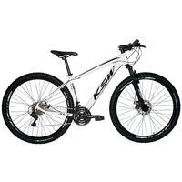 "Bicicleta Aro 29 Ksw 24 Marchas, Freios A Disco C/trava E K7, Cor: branco/preto, Tamanho Do Quadro:19"""