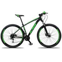 """Bicicleta Aro 29 Ksw 21 Marchas Freios Hidraulico E K7 Cor:preto/verdetamanho Do Quadro:15"""" - 15"""""""