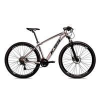 Bicicleta Aro 29 Ksw 24 Marchas Freio Hidráulico E Suspensão Cor: grafite/preto tamanho Do Quadro: 21pol - 21pol